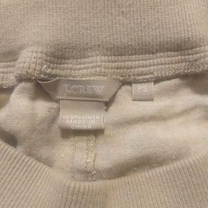 J. Crew pull on linen pants khaki sz small petite